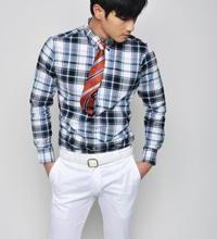 87(惠州客户)男士格子衬衫男士休闲格子衬衫男装T恤衬衫