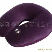 厂价热销毛绒U型电动按摩枕、U型保健音乐颈部按摩枕批发