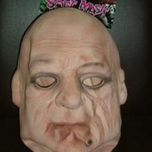 供应万圣节恶心整人面具,广东搪胶厂家生产加工批发