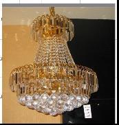 生产现代简约时尚黄水晶餐吊灯图片