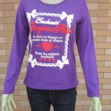 供应2011秋季纯棉长袖圆领女式T恤女士打底T恤外贸T恤时批发