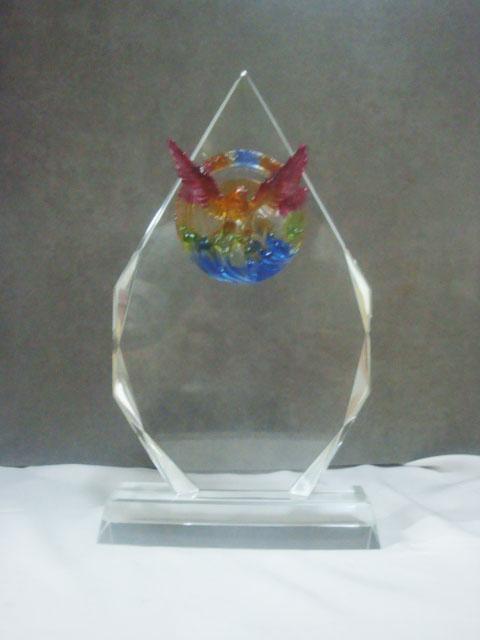 供应标准水晶奖杯奖牌金属奖杯工艺品