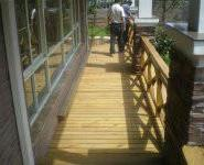 长沙防腐木地板工程承接图片