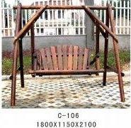 防腐木休闲摇椅图片
