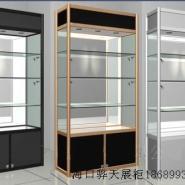 海南玉器展示柜精品展柜定做图片