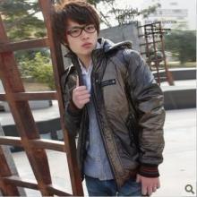 供应2011新款韩版休闲可脱卸帽棉衣