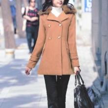 外套女韩版秋冬韩版女士修身风衣韩版长外套女款长袖t恤2011