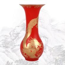 供应开业庆典礼品/中国红瓷花瓶