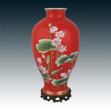 供应奇世珍宝/中国红瓷花瓶/长沙红瓷