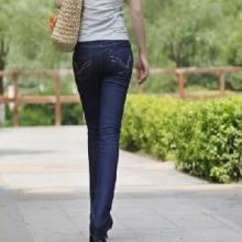 供应欧美蓝色微弹牛仔长裤小脚裤