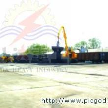 供应移动式火车卸车机卸船机抓钢机抓料
