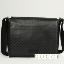 供应Gucci古奇休闲男包真皮菱格纹包1比1货源批发