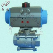供应Q611F气动不锈钢三片式球阀图片