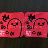 日本纯棉割绒印花方巾广告毛巾系列图片