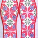 吸汗/防臭的纯棉十字绣鞋垫成品图片