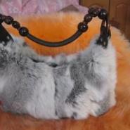 韩版新款皮草包包兔毛包图片