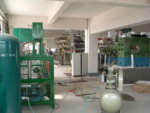 供应无流纹PVC塑料硬片压延压光生产线控温