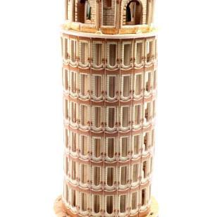 DIY模型3D立体拼图拼板比萨斜塔图片