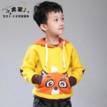 供应韩版男童卫衣加绒加厚儿童卫衣