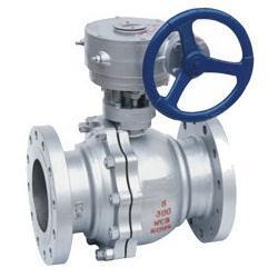 供应蜗轮传动球阀-Q341F蜗轮法兰浮动球阀
