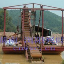 供应淘金船 淘金设备 移动淘金车 旱地选金设备 砂金开采设备