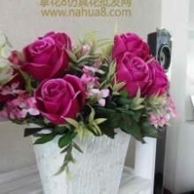 供应婚庆玫瑰组合绢花批发-仿真花批发批发