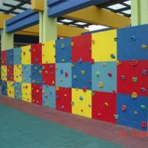 ¤重庆巴南幼儿园攀岩墙设计施工¤户外趣味攀爬钻网安装¤ 重庆开县小区儿童攀岩墙