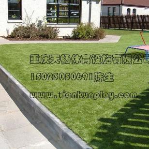 重庆绿色环堡人造假草坪图片