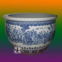 供应青花陶瓷大缸 各色花面陶瓷大缸