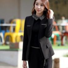 立体装饰一粒扣气质西装商务职业三件套女装套装批发