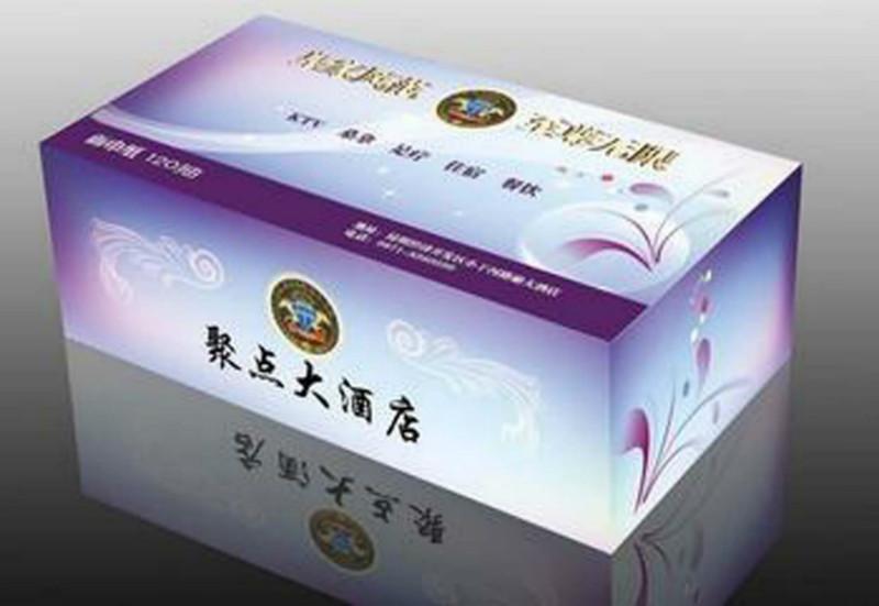 供应漳州市广告纸巾盒定制,盒装纸巾设计订做,广告礼品纸巾盒定制