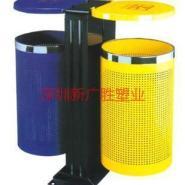 深圳分类垃圾桶玻璃钢双桶垃圾桶图片