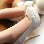 职业黑白色10cm高超高跟鞋图片