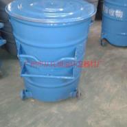 物业带轮圆形大铁桶厂家图片
