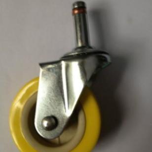2寸半PVC卡簧插杆脚轮图片