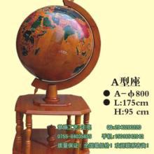 中山木质大摆件生产厂家中山实木地球仪摆件制作公司