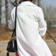 新款时尚韩版女装方领衬衣图片