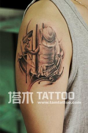 男纹身图案手臂图片
