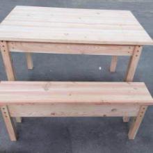 供应碳化木户外拼装桌椅批发
