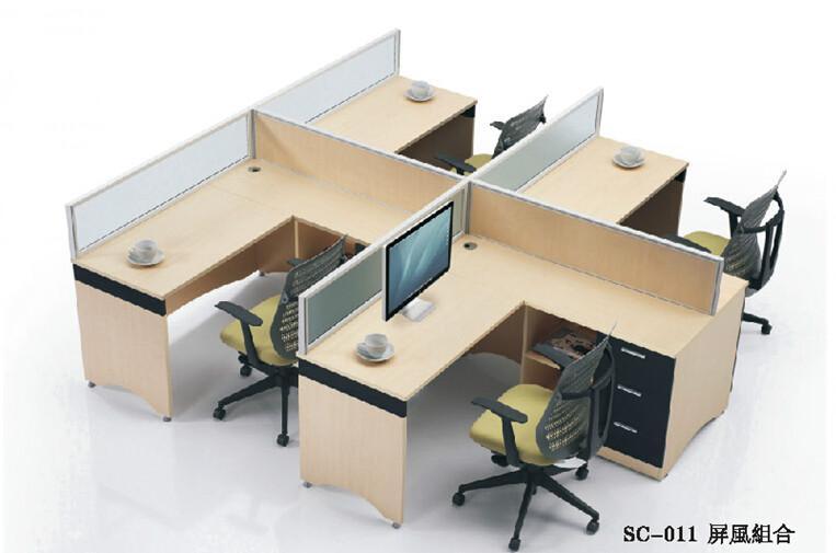 深圳员工办公桌组合屏风隔断卡位图片大全图片