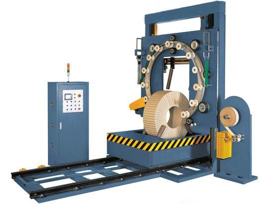 供应弹簧钢带钢卷缠绕包装机