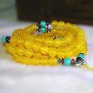 黄水晶玛瑙多层手链女石榴石手串图片