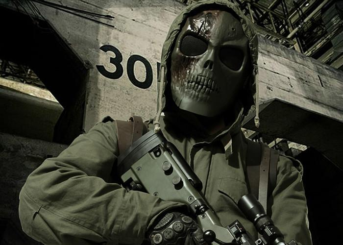 供应酋长正品M01CS全脸骷髅面具