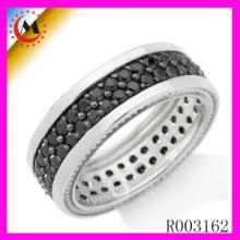供应银饰批发欧美925银饰品镶钻戒指