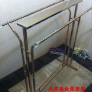 北京路金服装货架玫瑰金展示衣架图片