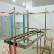 北京不锈钢材质六棱立柱组合批发架图片