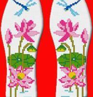 纯手工除臭棉布十字绣鞋垫 纯手工老中医中除臭棉布十字绣鞋垫