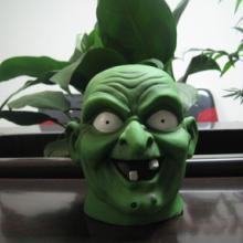 供应鬼节玩具恐怖整人面具搪胶玩具