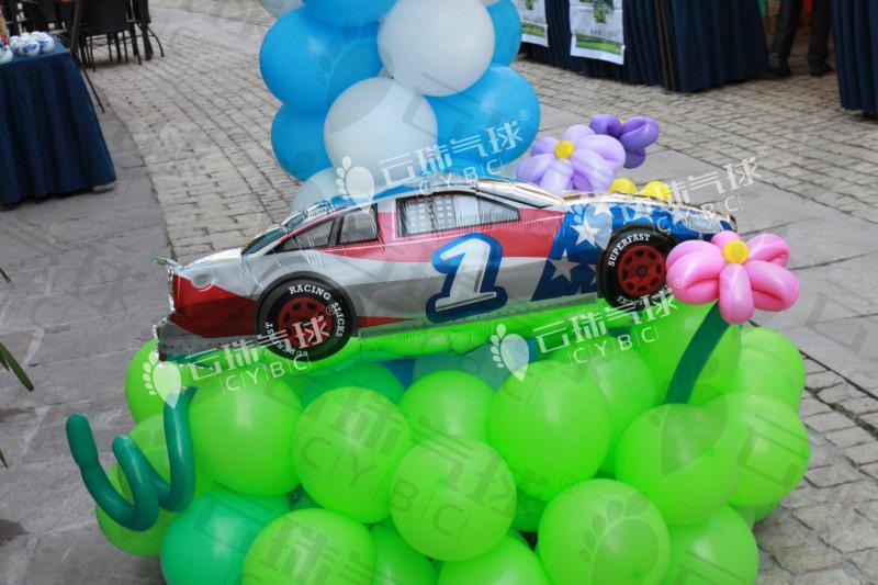 供应魔术气球汽车造型气球赛车