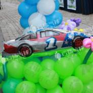 魔术气球汽车造型气球赛车图片